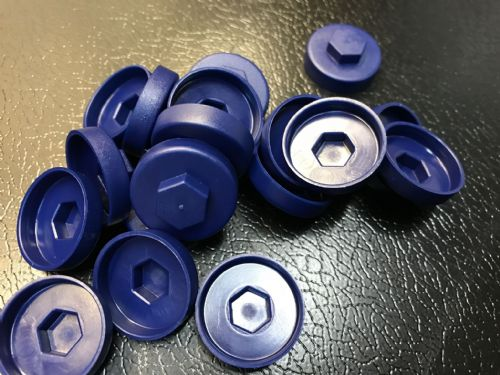 1000no. Sargasso Blue 19mm Colour Cap (Push On Colour Cap)